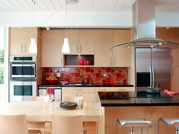 Glass Panel Backsplash
