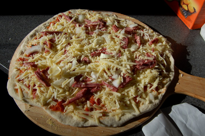 savvyhousekeeping corned beef pizza