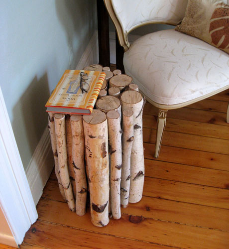 Beau lifestyle diy birch log side table for Diy wood stump side table