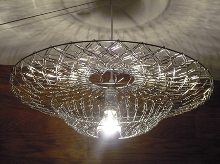 Savvy housekeeping chandelier from paper clips savvyhousekeeping paper clip chandelier aloadofball Gallery