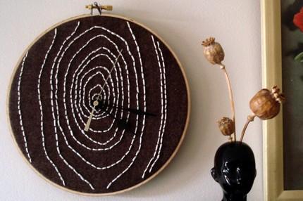 savvyhousekeeping embroidery hoop clock