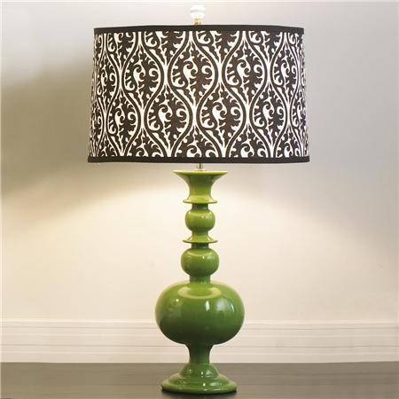 Wallpaper Lamp Shades : Savvy Housekeeping Wallpaper a Lamp Shade