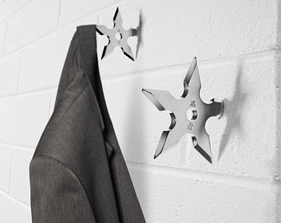savvyhousekeeping ninja star wall coat hook cool