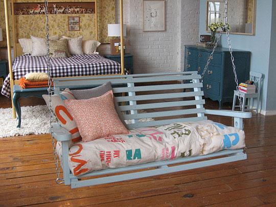 Roomy adult-sized swing set