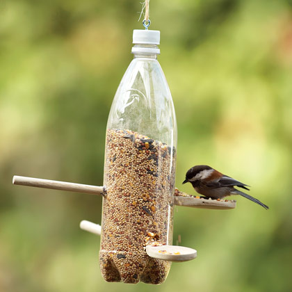 savvyhousekeeping bird feeders soda bottle milk jug