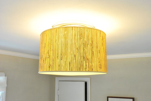 Delightful Savvyhousekeeping Make Your Own Oversized Lamp Fixture From Shade
