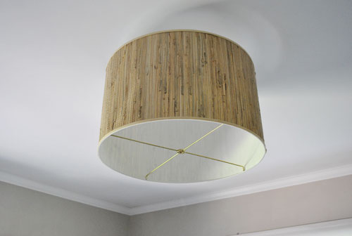 Savvy housekeeping diy oversized lamp shade fixture savvyhousekeeping make your own oversized lamp fixture from shade aloadofball Image collections