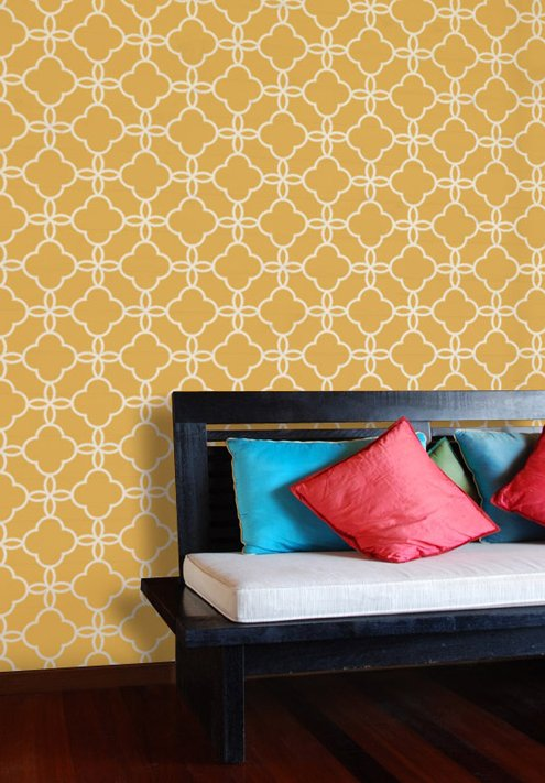Savvy Housekeeping 187 Moroccan Tile Stencils