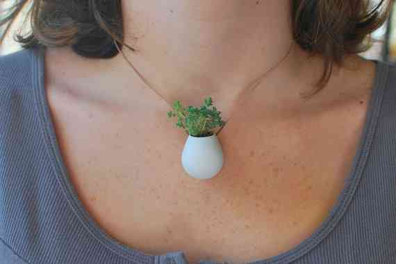 savvyhousekeeping wearable planters unusual jewelry