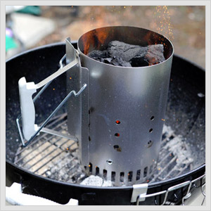 savvy housekeeping how to use a chimney starter for bbq. Black Bedroom Furniture Sets. Home Design Ideas