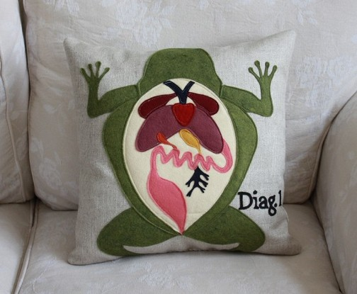savvy housekeeping  u00bb frog dissection diagram pillow