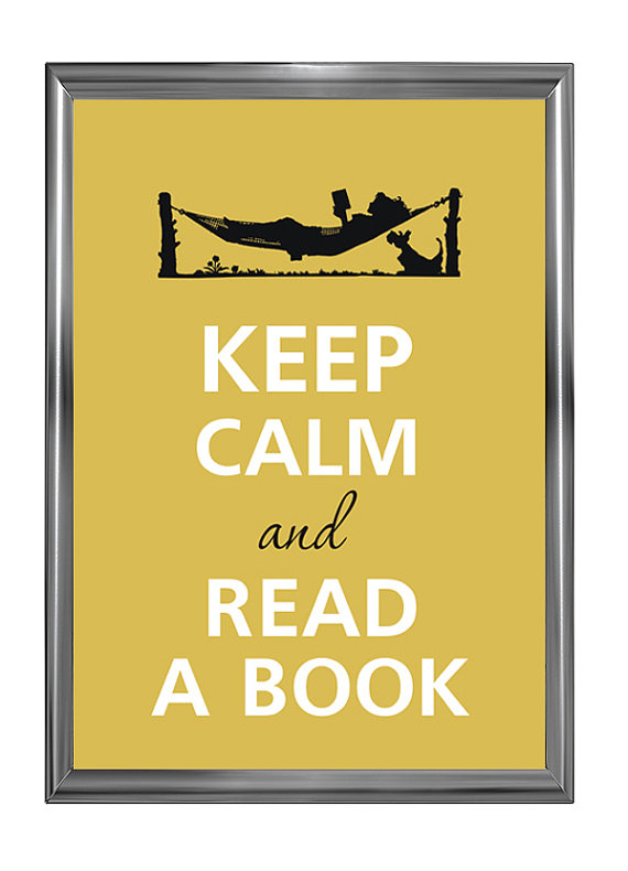 Savvy Housekeeping » Keep Calm and Read A Book Poster