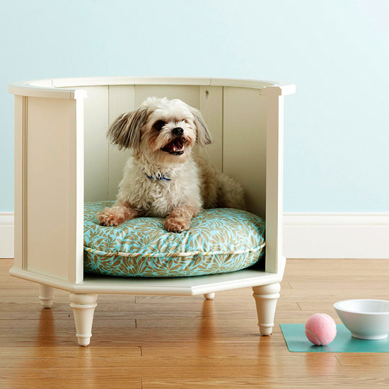 Savvy housekeeping from side table to dog bed for Dog bed table