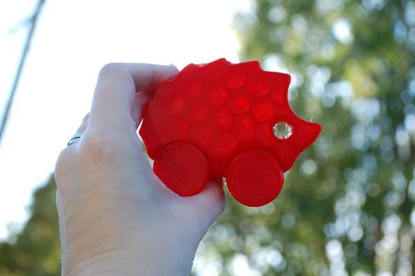 3d printing rolling hedgehog baby toy