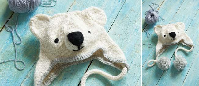Savvy Housekeeping Knitted Polar Bear Hat
