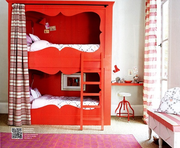 Savvy Housekeeping Red Bunk Beds