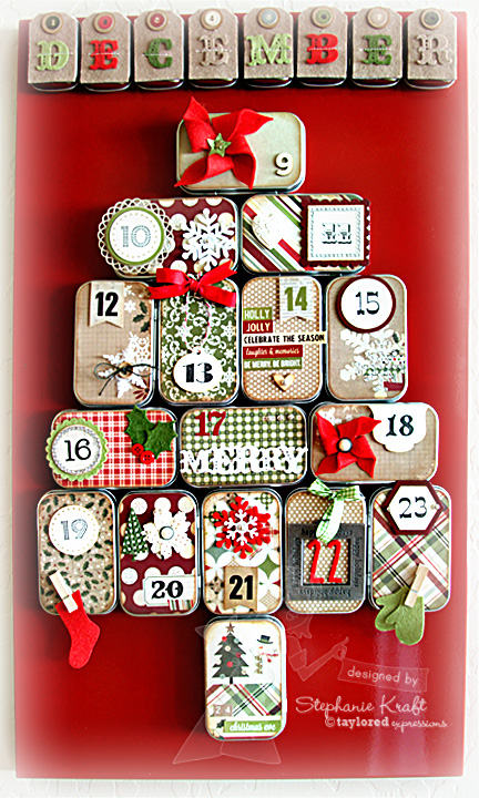Savvy housekeeping 3 more diy advent calendars make an advent calendar out of altoid tins im always wondering what to do with those nifty tins solutioingenieria Images