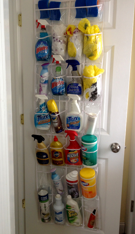 Savvy Housekeeping 187 Use A Shoe Organizer To Organize Cleaners