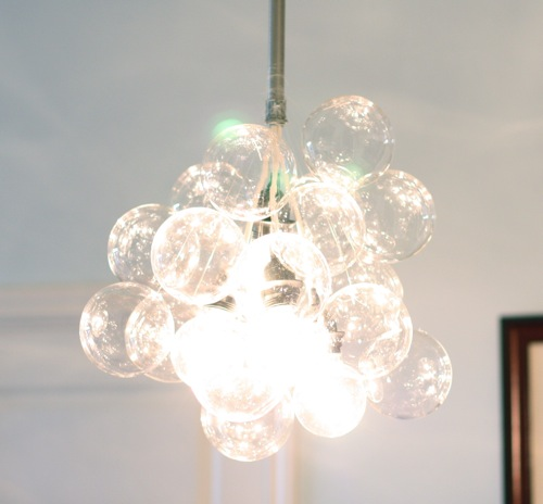 Savvy housekeeping make your own bubble chandelier for Build your own chandelier