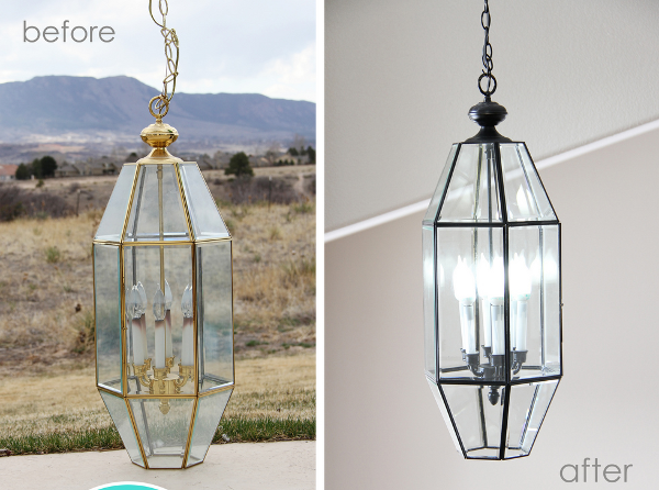 Savvy Housekeeping Spray Painting A Chandelier – Paint a Chandelier