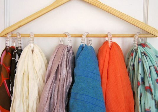 Savvy Housekeeping Use Shower Rings To Organize Your Closet