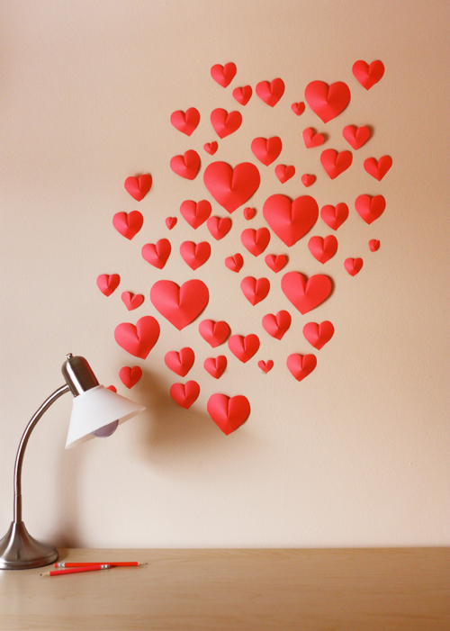 wall-of-paper-hearts