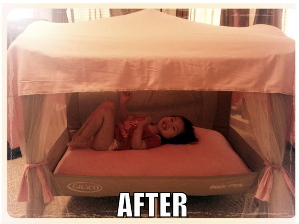 toddler bed made out of pack and play 2